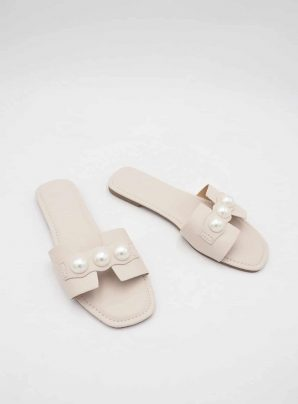 Nude Pearl Sandals